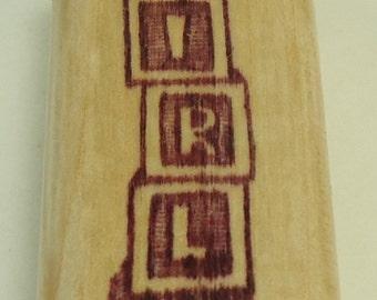 Girl Blocks Wood Mounted Rubber Stamp