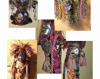 Create SPIRIT DOLLS, Art Doll, Prayer Doll, Wisdom Doll, Divine Feminine Doll, Altered Art Doll, Mixed Media Doll, Boho Doll, Goddess Doll