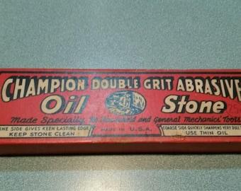 Vintage Champion Combination Oilstone