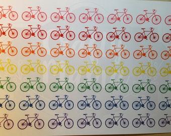 Bicycle Stickers! 49 stickers! Great for Erin Condren, FiloFax, Kikki.K, or Plum Paper Planners (159)