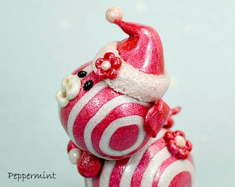 Peppermint Polymer Clay Piglet