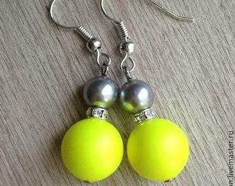 "Earrings ""Lemon sorbet"""