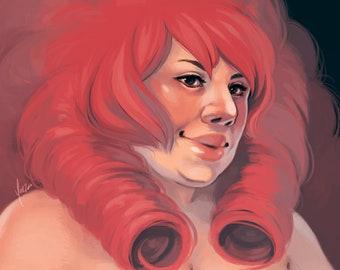 Steven Universe Fanart Print - Rose Quartz