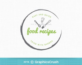 Simple Food Logo Design Food Blog Logo Kitchen Tools Logo Chef Logo