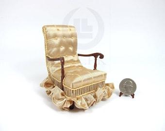 "Doll House 1:12 Scale Miniature The ""Carl"" Arm Chair"