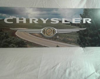 Old Metal Chrysler Sign