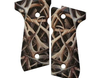 Antlers Deer Elk Custom Beretta 92 96 M9 Grips
