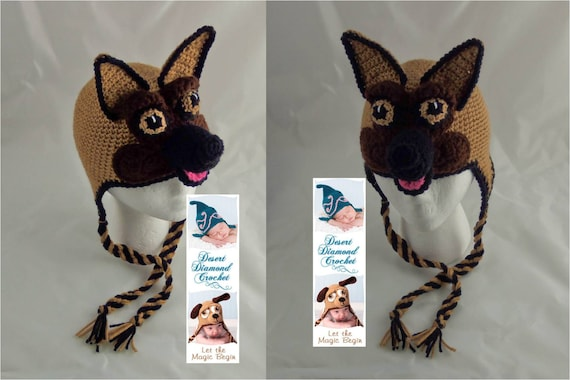 German Shepherd Hat - Any Size - Any Color Combo
