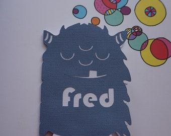 Birthday Card - Personalised Children's Greetings Card - Monster Birthday Card - Name Or Age Greetings Card