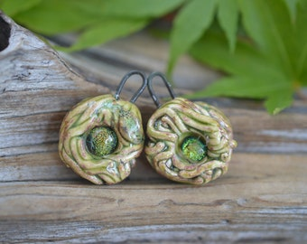Nests-  Handmade Porcelain Bead Pair
