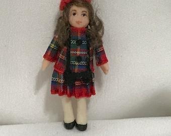 "Dollhouse Miniature 1"" Scale Doll"