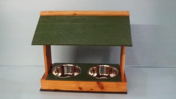 Large OUTDOOR DOG FEEDER, cat feeder, cat bowls, dog bowl, dog feeder