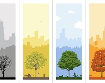 4 Seasons in Chicago - Print Set