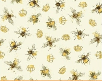 Bee My Sunshine Cotton Fabric by Windham Fabrics! [Choose Your Cut Size]