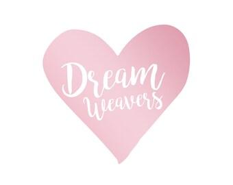 Premade Logo, Pink Logo, Pre-Made Logo, Heart Logo, Logo Kit, Logo Design, Etsy Logo, Shop Logo, Profile Logo Contemporary Logo Minimal Logo