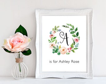 Baby girl names etsy best selling items baby shower decorations baby name sign nursery name sign negle