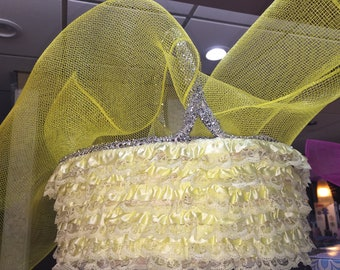 Yellow lace Easter Basket