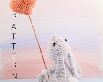 Amigurumi crochet cute bunny rabbit pattern - Pippin the bunny rabbit PATTERN ONLY (English)