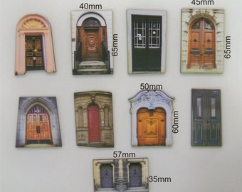 9 x Ornate front doors