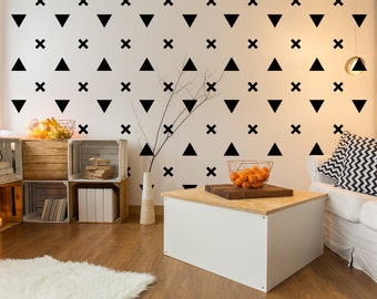 Triangle Wall Decal, Urban Wall Decor, Triangle Decals, Modern Wall Decor,  Apartment