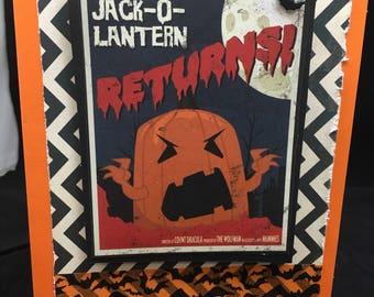Scary Jack O Lantern Halloween Card - Halloween Movie Poster