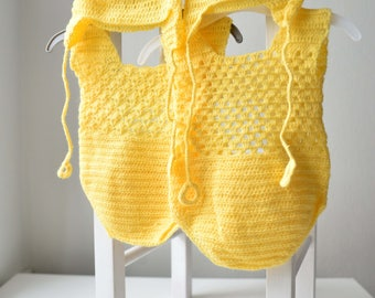 Twin Newborn rompers / Twins / knitted rompers / yellow rompers / newborn / photo prop / photography