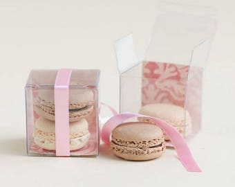 Packaging For Macarons Macaron etsy 10 clear favor boxes clear macaron boxes macaron favor box clear gift boxes sisterspd
