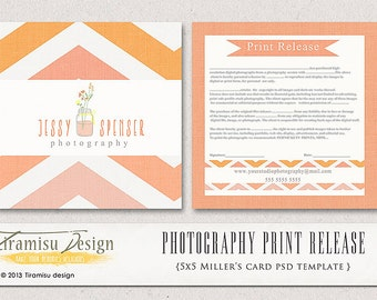 Photography Print Release - 5x5 Template - INSTANT DOWNLOAD - sku 5-1