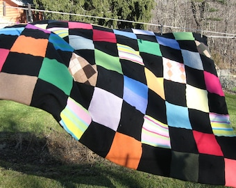 100% Cashmere Quilt with recycled cashmere. On Sale