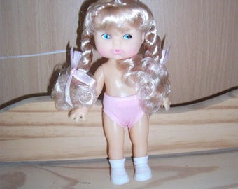 CINDY FIBRE CRAFT Doll, brown or blonde hair 6 3/4 inch, tall