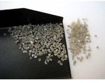 White Diamond, Uncut Diamond, Rough Diamond, UnDrilled Raw Diamond Chips, Raw Uncut Diamond, 1mm To 2mm Approx, 1Cara