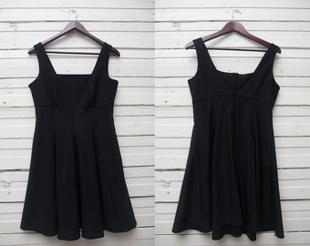 Vintage Black Dress, Little Black Dress, 90s Black Dress, Strap Black Gown, Black Mini Dress, Promod Black Dress, Medium Size Dress