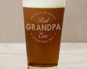 Engraved Best Ever Beer Glass, beer lover, craft beer, for him, dad, father's day gift -gfyL11515142