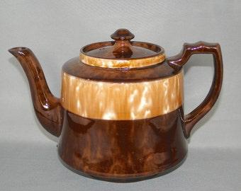 Vintage Redware English Tea Pot