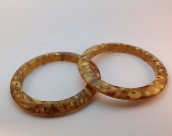 Lucite Bangle Bracelets 1950's