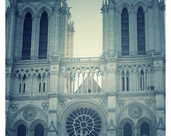 France Photography-Notre Dame Cathedral 8 x 10 Dreamy Photography, Paris, France, Sepia, French Architecture, Travel Photography, Romantic