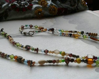 Skinny boho necklace. Festival chic.
