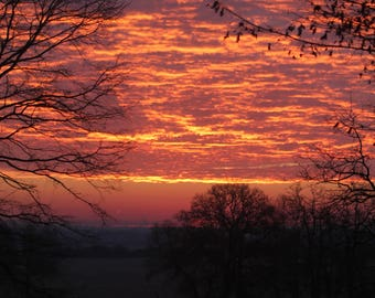 Landscape photography at sunrise