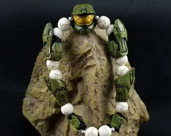 Custom Halo Master Chief Beaded Bracelet
