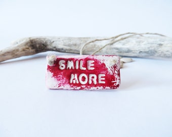 Ruby Red Necklace Motivational Jewelry Quote Necklace OOAK Pendant Spiritual Jewelry Marsala Pendant Festival Jewellery Rustic Jewelry