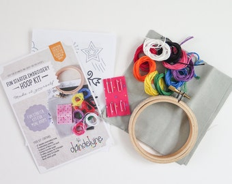 Embroidery Kit | Embroidery Starter Kit Embroidery Hoop, Embroidery Floss, Embroidery Needles