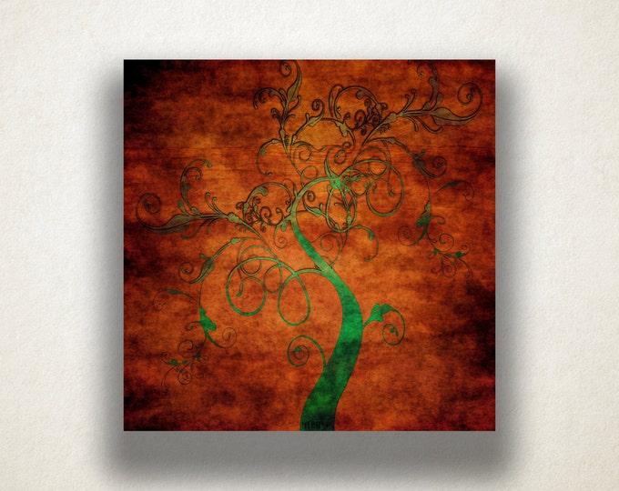 Vine Tree Canvas Art Print, Tree Wall Art, Abstract Nature Canvas Print, Artistic Wall Art, Canvas Art, Canvas Print, Home Art, Wall Art
