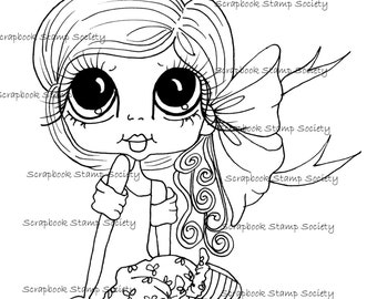 INSTANT DOWNLOAD Digital Digi Stamps Big Eye Big Head Dolls Digi  My - Besties  IMG802 By Sherri Baldy