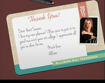 Thank You Grad Photo Graduation Thank You Notes High School College  Customized Set Of 25 Printed