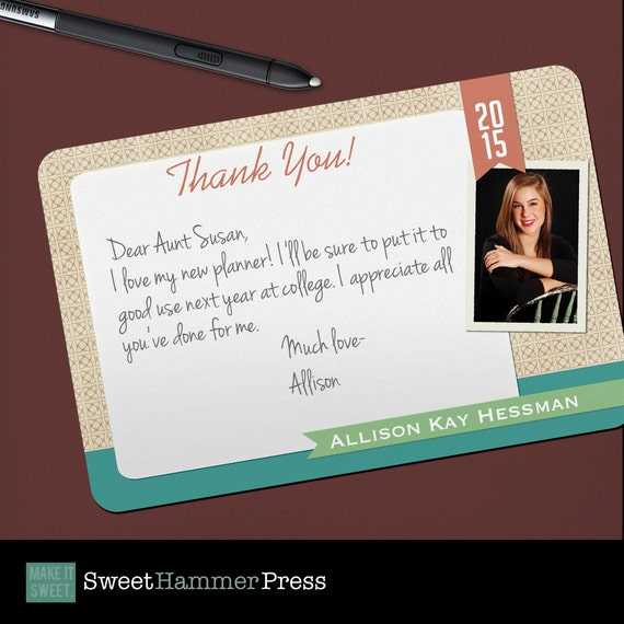 Awesome Thank You Grad Photo Graduation Thank You Notes High School