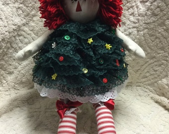 Christmas Tree Annie Doll~ SUPER CUTE~Handcrafted