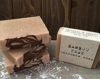 Bamboo Teak Cold Processed Handmade Soap