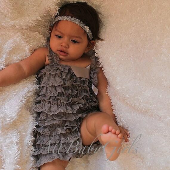 Elastic Romper, Newborn Romper, Gray Romper, Baby Romper, Infant Romper, Elegant Romper, Baby Girl Clothes, Baby Rompers, Rompers for Girls