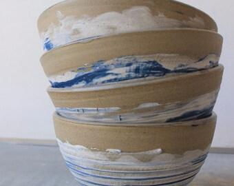 Blue and white bowl, Ceramic Bowl, Porcelain dish, Stoneware bowl, Salad bowl, pottery dinnerware, handmade dinnerware, Pasta bowl
