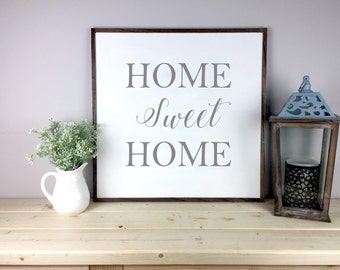 Home Sweet Home Sign | Farmhouse Sign | Housewarming Gift |